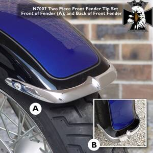 2-Piece Cast Front Fender Tip Set N 7007 - National Cycle