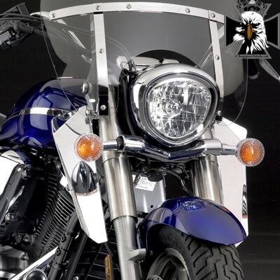 Yamaha Midnight Star 1300. N76604  Chrome Lowers for SwitchBlade® Windshield System