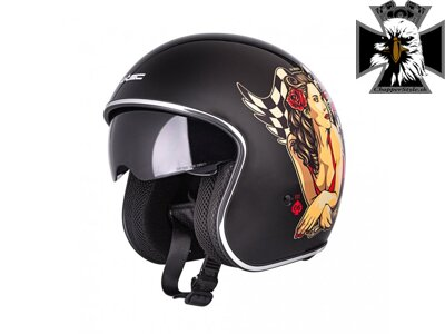 Moto prilba W-TEC V537 Black Heart Angel