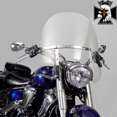Yamaha Midnight Star 1300. N21137  SwitchBlade® 2-Up® Windshield
