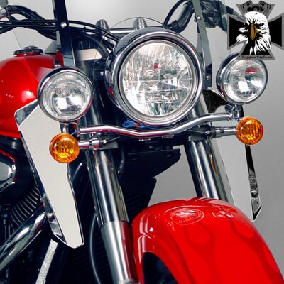 Deflektory Suzuki Intruder VL800. N76609  Chrome Lowers for SwitchBlade® Windshield System