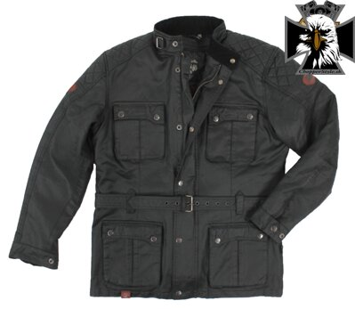 RUSTY PISTONS RPJAM31 LEADORE WAX PARKA BLACK