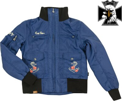 RUSTY PISTONS RPJAW14 CE SHILOH SAILOR WOMENS JACKET BLUE