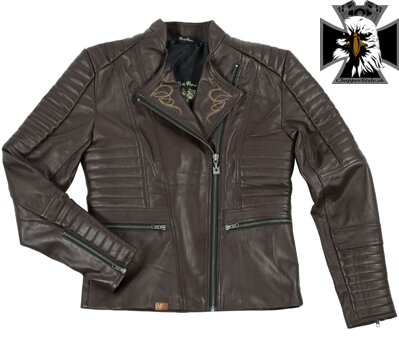 RUSTY PISTONS RPJAW17 CE LIVONIA WOMEN BROWN LEATHER JACKET