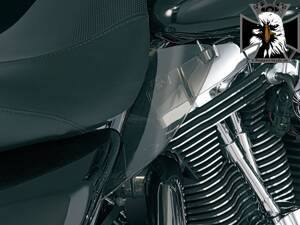 AIRMASTER® REFLECTIVE SMOKE SADDLE SHIELDS 1188 - Kuryakyn